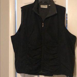 Black Zip up Vest
